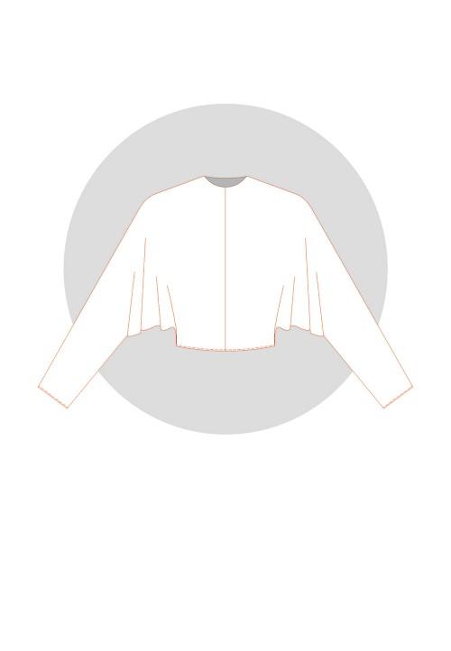 Kimono chauve-souris pince d'épaule Langue:Français