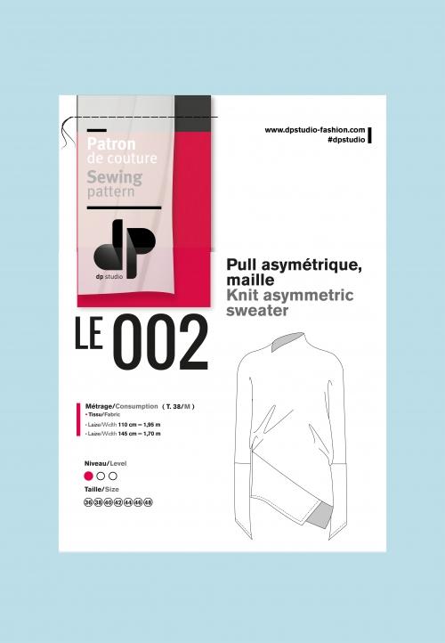 Le 002 Pull asymétrique, maille