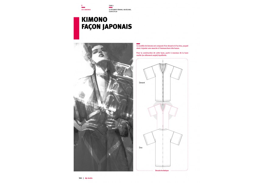 Japanese-style kimono