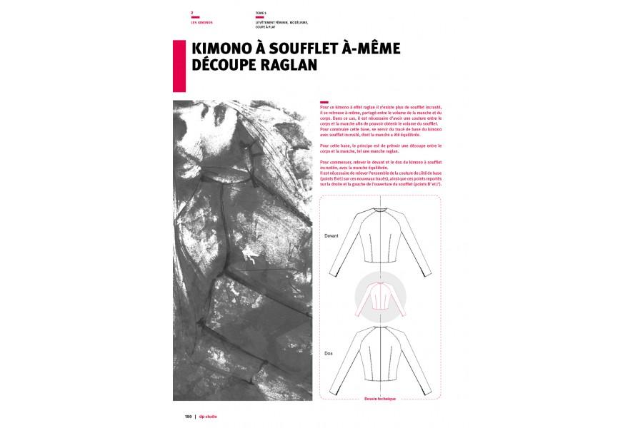 Kimono à soufflet à-même découpe raglan