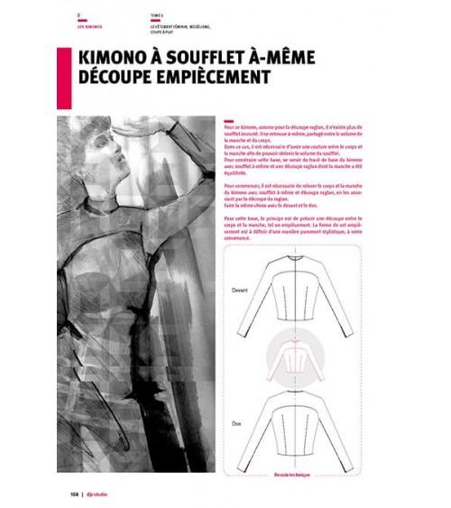 Kimono à soufflet à-même découpe empiècement
