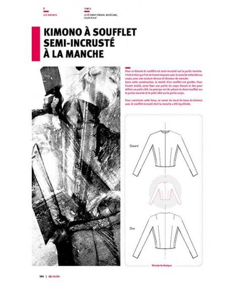 Kimono à soufflet semi-incrusté à la manche