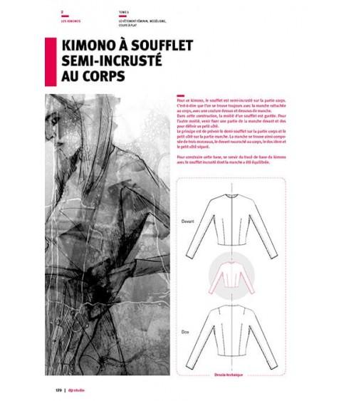 Kimono à soufflet semi-incrusté au corps