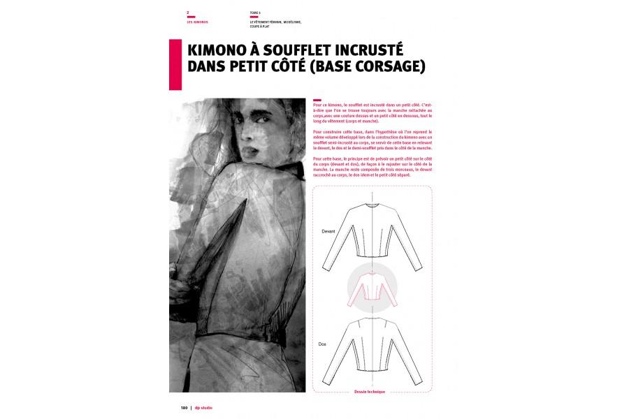 Kimono à soufflet incrusté dans petit côté (base corsage)