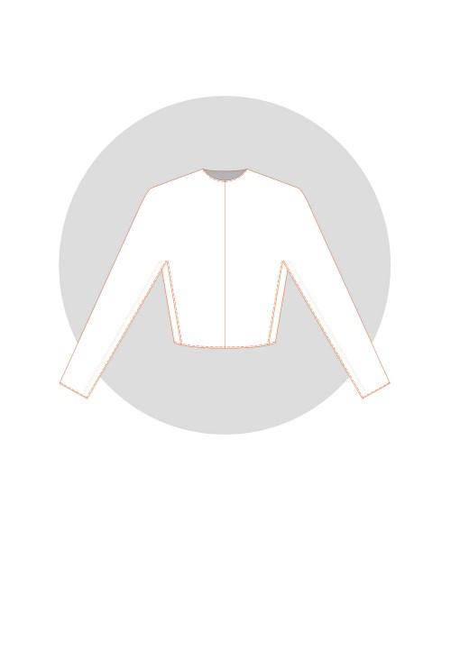 Kimono à soufflet incrusté dans petit côté (base maille ou vêtement ample)