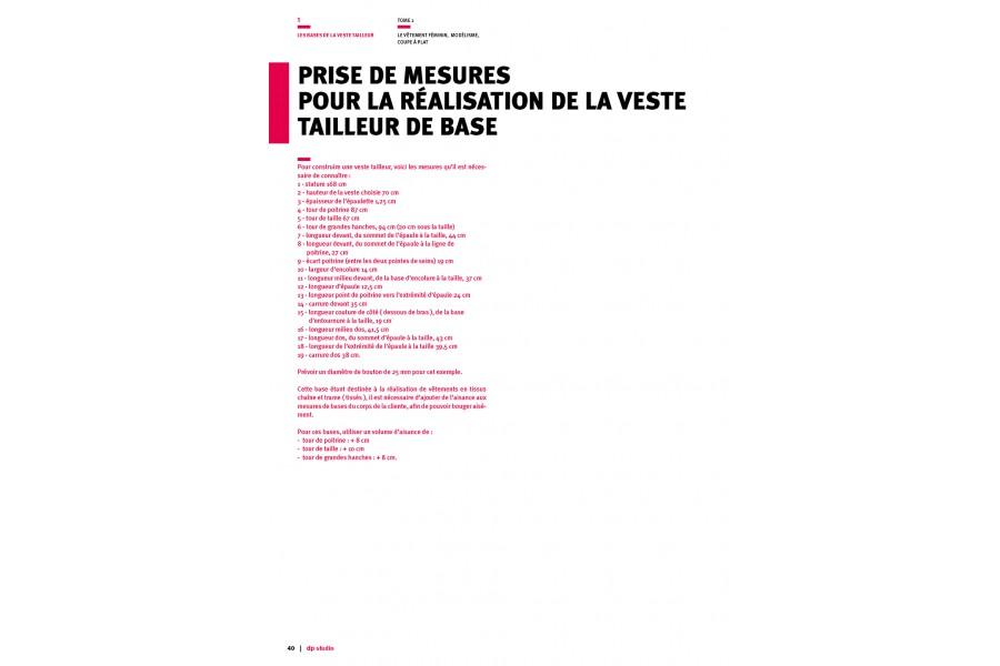 Prise de mesures pour la veste tailleur de base Langue:Français