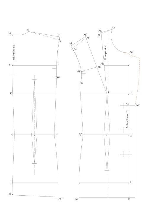 Veste tailleur de base avec un petit côté (3 morceaux)
