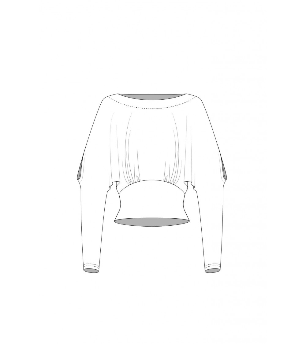 Le_004 Top with bat sleeves