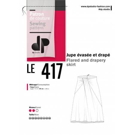 Le 417 Flared and drapery skirt