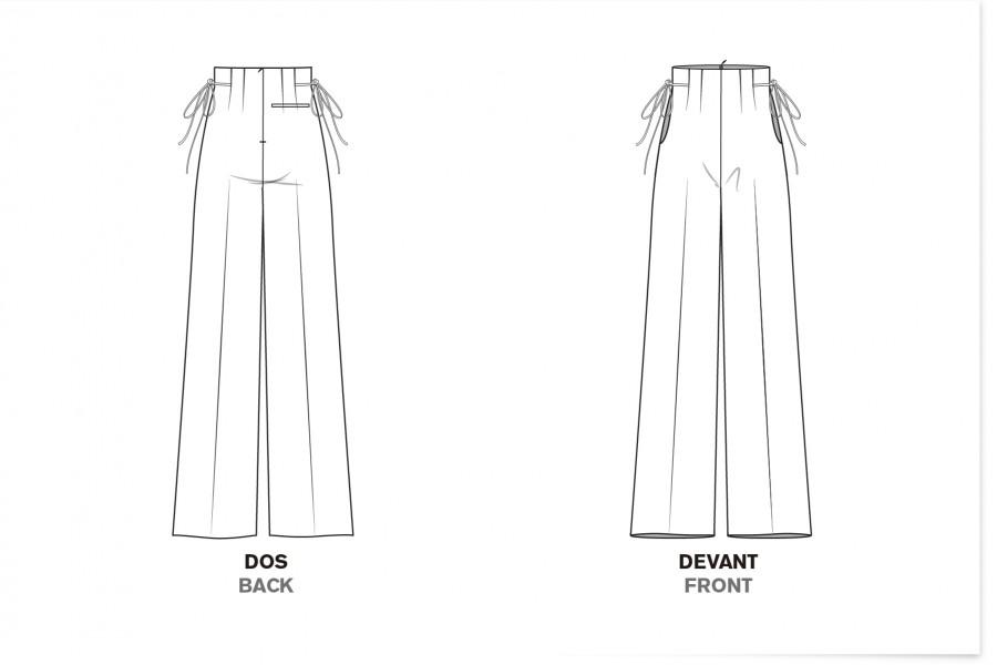 Le 308 Pantalon droit taille haute