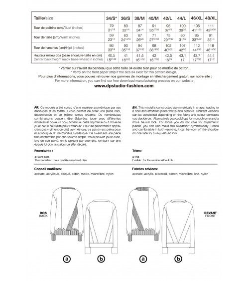 le 506a et b -Sweat asymétrique