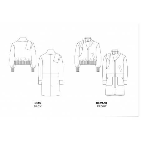 le 204a et b - Manteau écharpe
