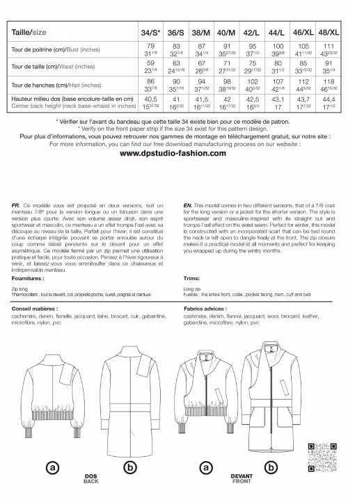 Le 204 Manteau écharpe
