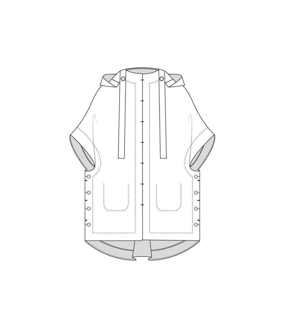 le 804 Hooded cape
