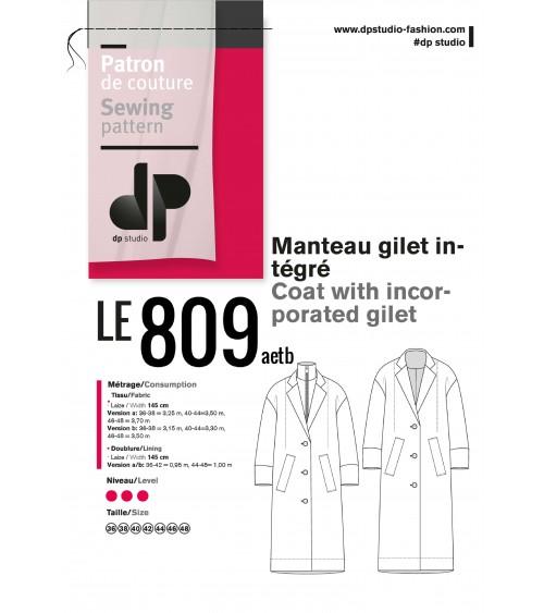 le 809a et b - Manteau gilet intégré