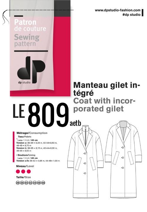Le 809 Manteau gilet intégré
