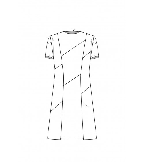 Le 901 A-line dress with seam detailing