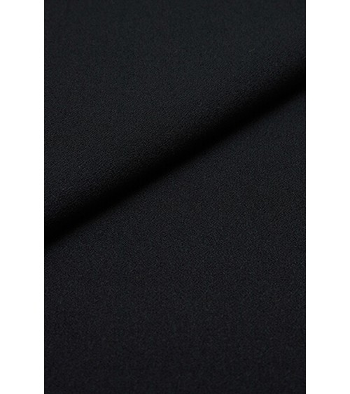Black double crepe fabric lightly extensible