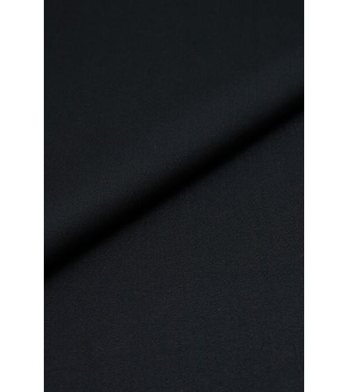 Tissu laine légèrement extensible noir
