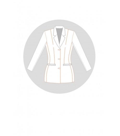 Passage de pince dans une découpe de poche sans découpe bretelle (veste tailleur de base)
