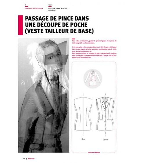 Passage de pince dans une découpe de poche (veste tailleur de base) Langue:Franç