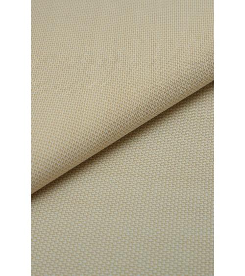 Coton/polyester écru/jaune