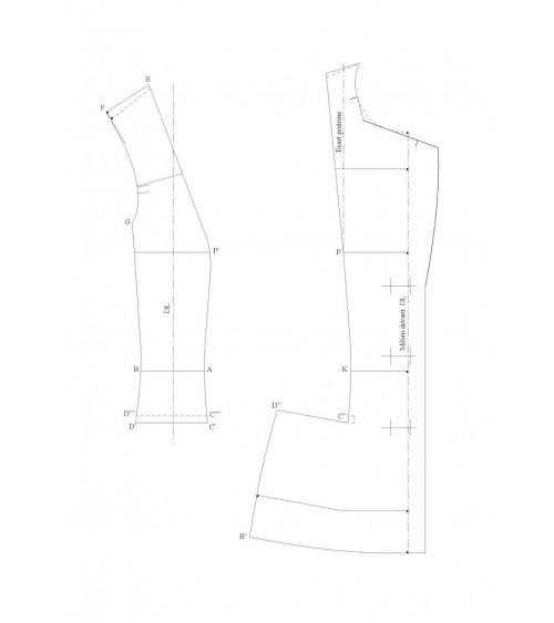 Passage de pince dans une découpe de poche (veste tailleur de base)