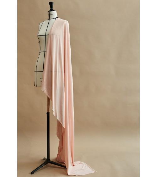 Pale pink cotton/viscose fabric