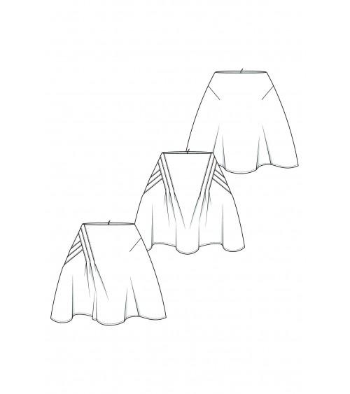 Le 407 Jupe asymétrique à plis croisés