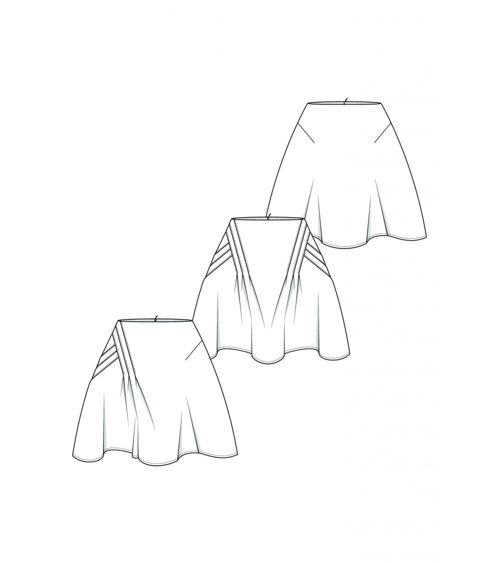 le 407a b et c - Jupe plissé croisé