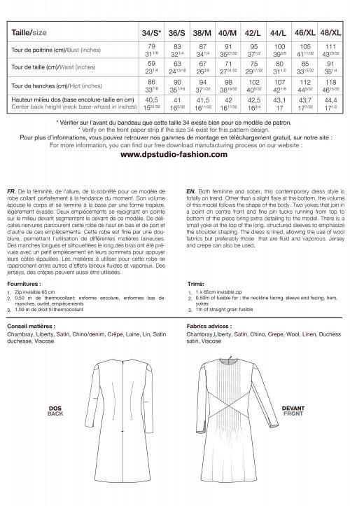 Le 930 Robe à découpes et nervures