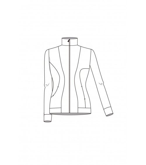 Le 205 Asymmetric close-fitting sports jacket