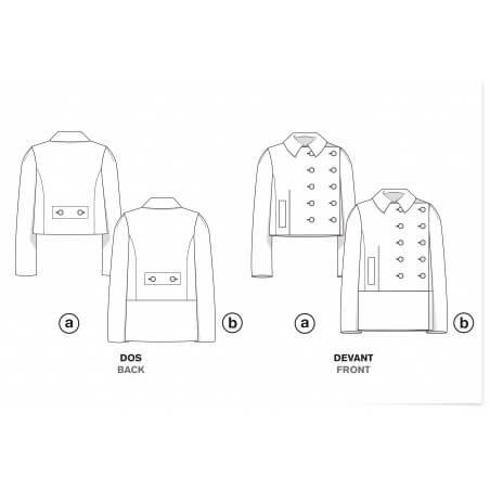 Le 103a and b - Asymmetric double-breasted pea-coat
