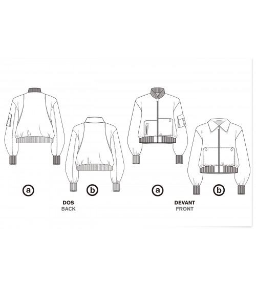 Le 203 - Bomber jacket with asymmetric pockets