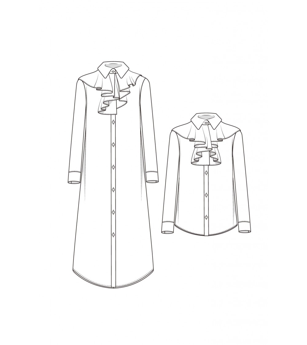 le 915a et b - Chemise-robe