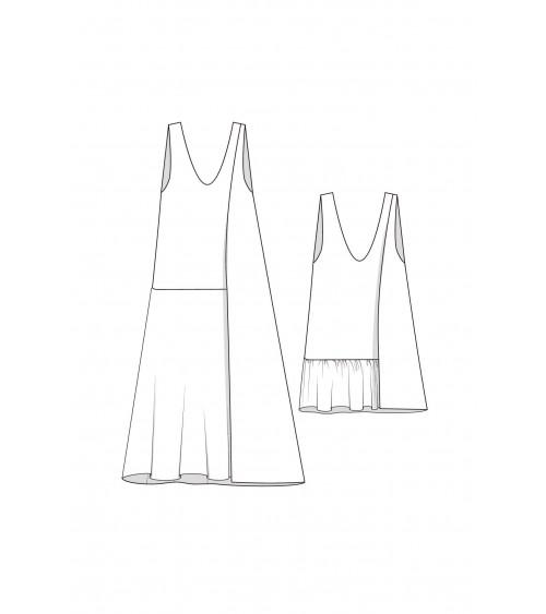 le 906a et b - Robe gilet asymétrique
