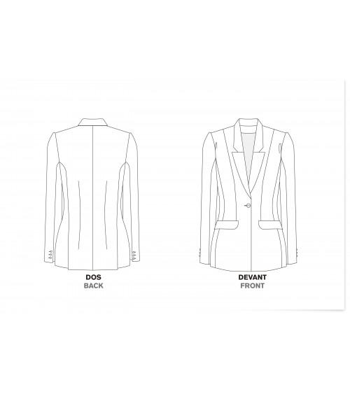 Suit jacket, one button