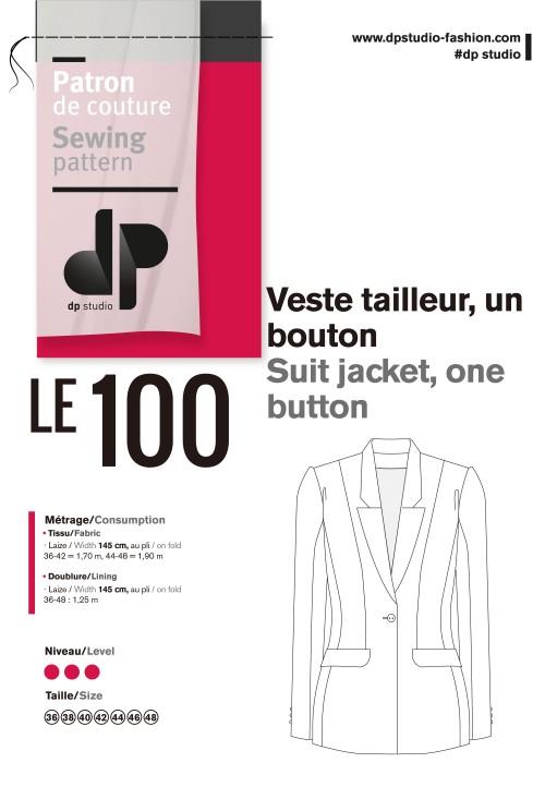 Le 100 Suit jacket, one button