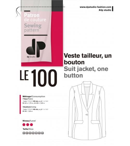 Le 100 - Veste tailleur, un bouton
