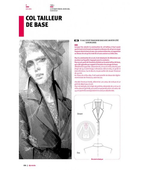 Tailored collar base pattern
