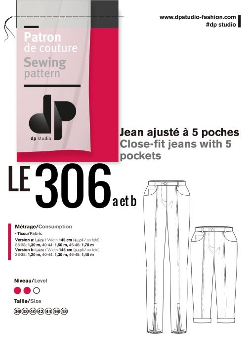 Le 306 Jean ajusté à 5 poches PDF