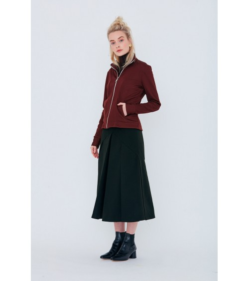 Sleeveless jeans-style jacket/coat with classic seam details