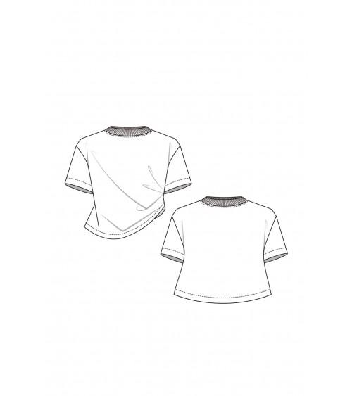 Top à plis, asymétrique