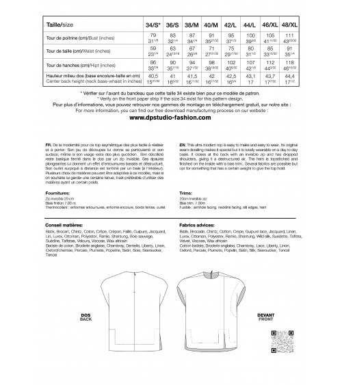 Le 402 A et B EMMA Jupe droite à empiècement et plis couchés/à plis couchés