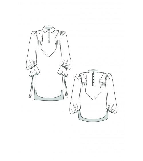 le 605a et b - Blouse-robe