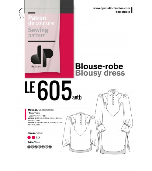 le 605a and b - Blousy dress