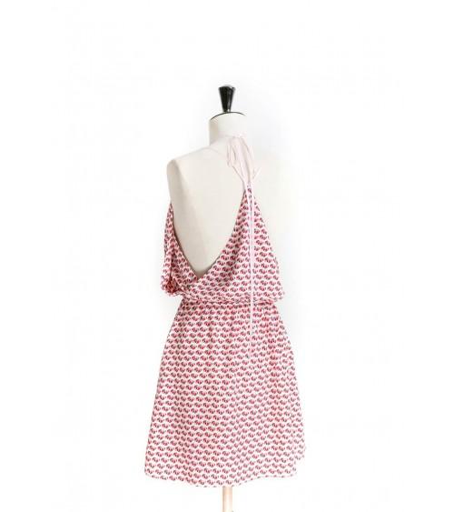 Panel dress, cut at the waist