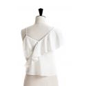 Asymmetric frill top/dress