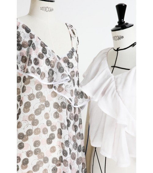 Top/robe à volant en asymétrie