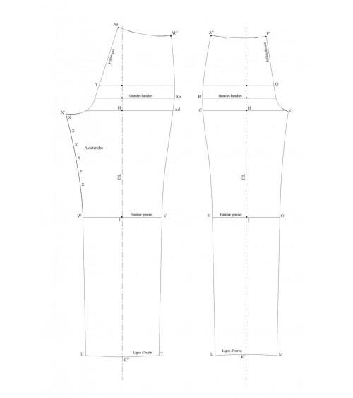 Pantalon classique de base sans pince